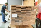 Plank Flooring Being Prepped for Shipment